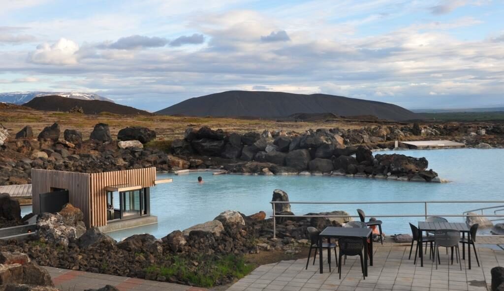 Geothermaal bad in Myvatn IJsland