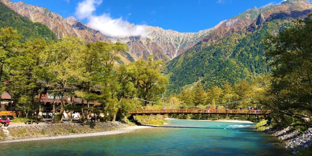 Kamikochi vallei in Japan